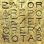 Arepo Sator, il Quadrato Magico