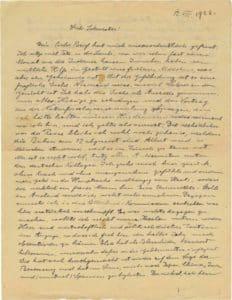 La lettera di Heinstein del 1922