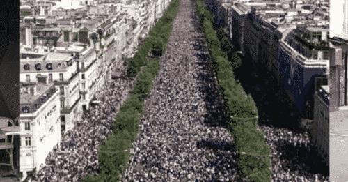 manifestazione dei giubbotti gialli in Francia