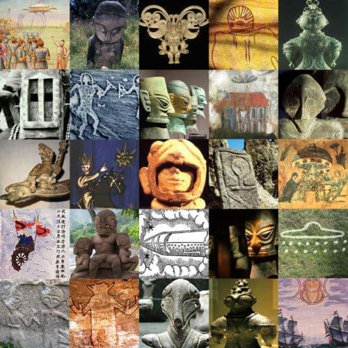 strani oggetti e graffiti antichi