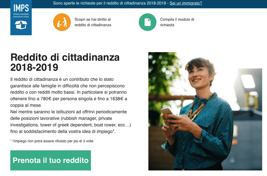 sito fake di Digitalia