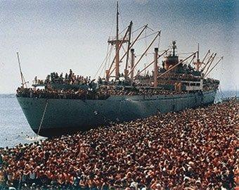 Albanesi arrivati in Italia