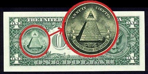 L'Occhio di Horus rappresentato nella banconota da un dollaro