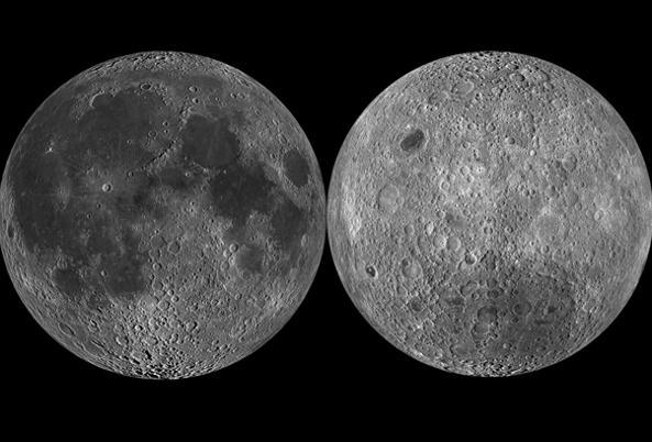 Lato oscuro della Luna , foto NASA