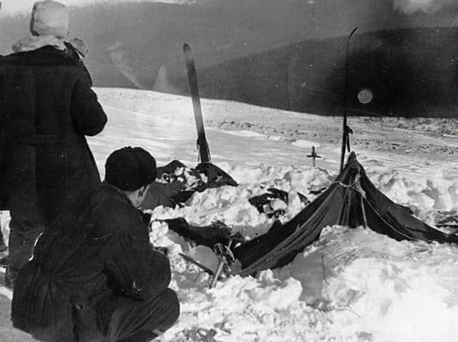 I resti della tenda