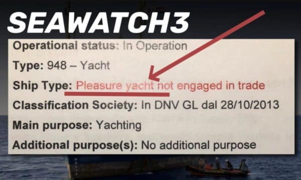 Registrazione della Sea Whatch
