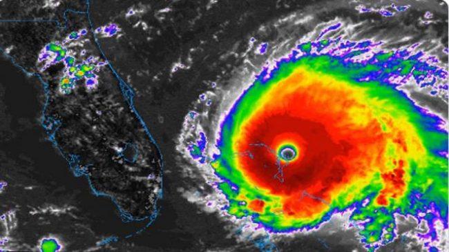 L'Uragano Dorian passa a livello 5, un milione di evacuati