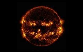 La NASA celebra Halloween con una particolare foto del Sole