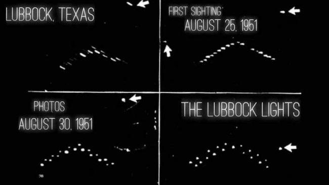 Le strani luci avvistate a Lubbock