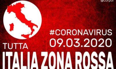 Coronavirus, tutta Italia è zona rossa