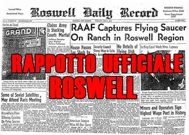 Roswell, il rapporto ufficiale