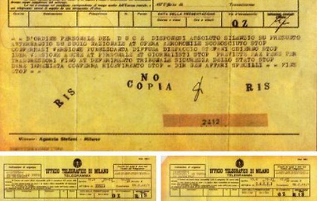 L'incidente UFO di Mussolini del '33